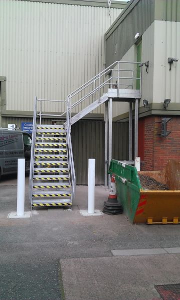 Fabrication & installation of Fire Escape at Exeter: Swipe To View More Images