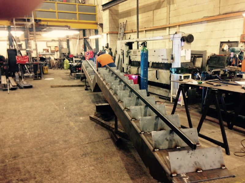 Solihull Library: Fabrication of staircase at our works.: Swipe To View More Images