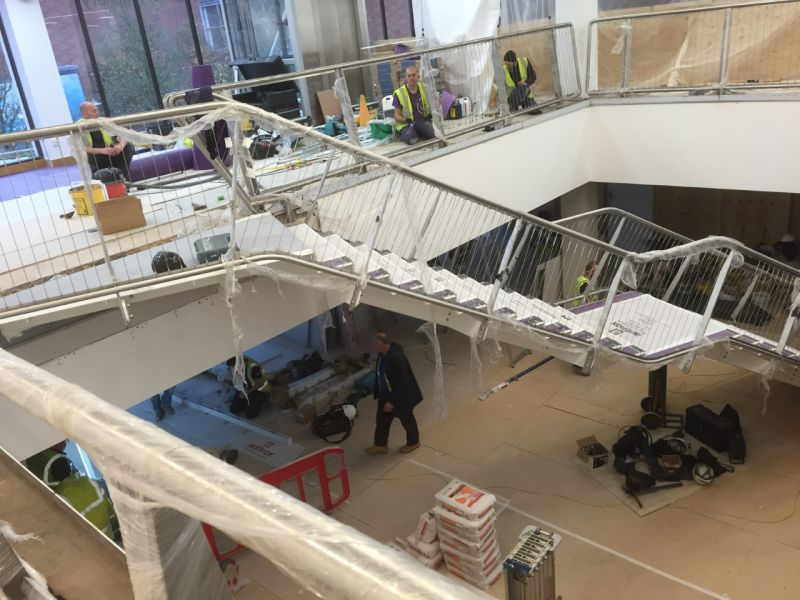 Solihull Library: Stage 2 installation of staircase & Balustrade.: Swipe To View More Images