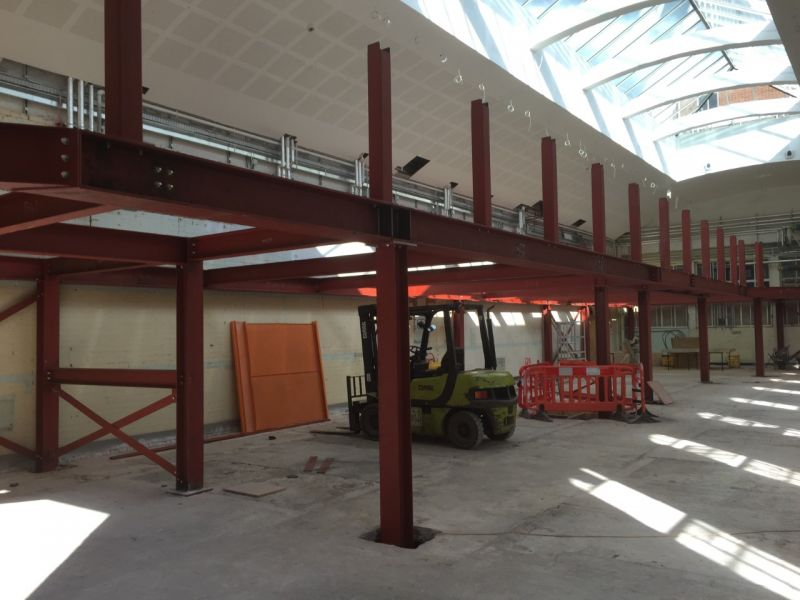 Laboratory B'ham University: Fabrication & installation of Mezzanine floor.: Swipe To View More Images