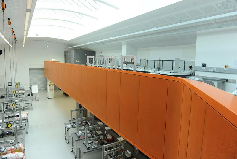 Laboratory B'ham University: Completion of Mezzanine floor and panels.: Swipe To View More Images