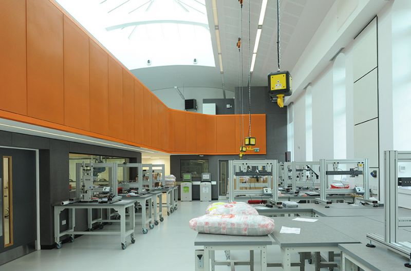 Laboratory B'ham University: Completion of Mezzanine floor and panels. : Swipe To View More Images
