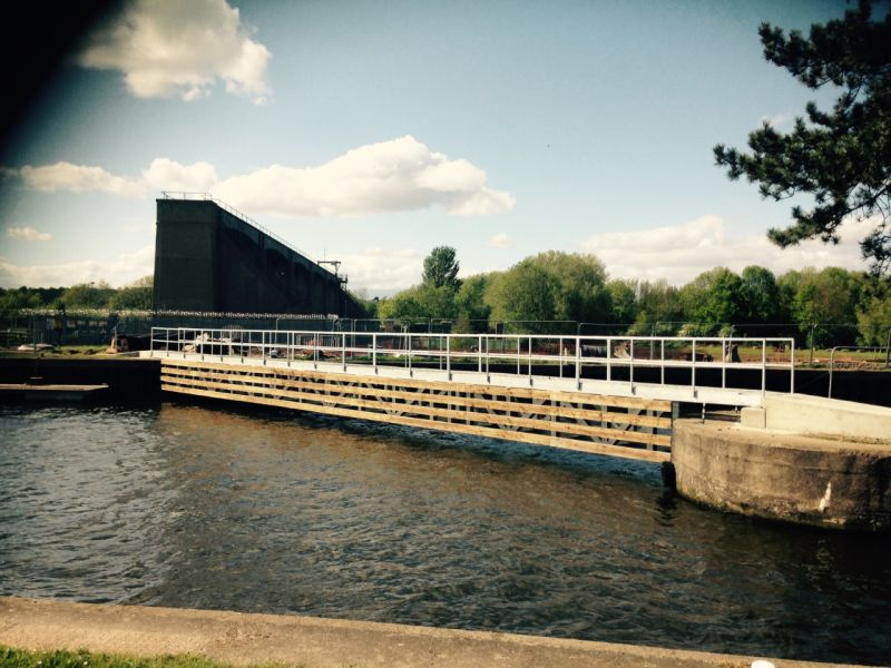 Holme Pierrepont Country Park: Bridge completion.: Swipe To View More Images