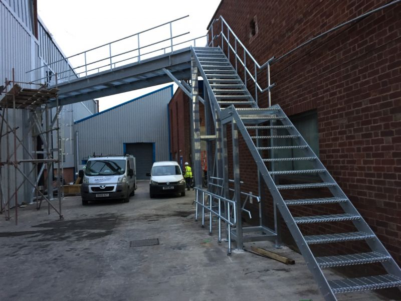 Steel Walkway to support overhead pipework at Bridgenorth. : Swipe To View More Images