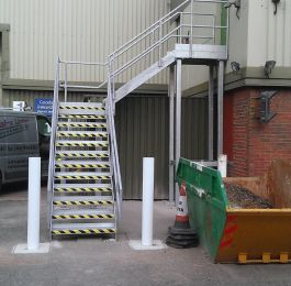 Fabrication & installation of Fire Escape at Exeter: Click Here To View Larger Image