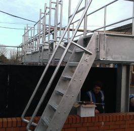 Installation of Walkway over water tank at Meggitt Coventry.: Click Here To View Larger Image