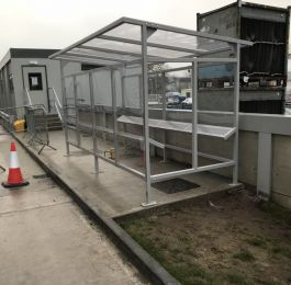 Fabrication and installation of Smoking Shelter.: Click Here To View Larger Image