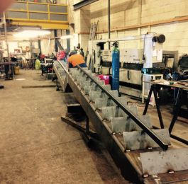 Solihull Library: Fabrication of staircase at our works.: Click Here To View Larger Image