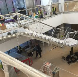 Solihull Library: Stage 2 installation of staircase & Balustrade.: Click Here To View Larger Image