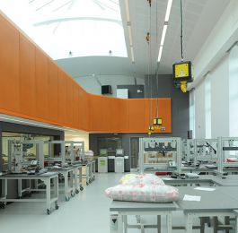 Laboratory B'ham University: Completion of Mezzanine floor and panels. : Click Here To View Larger Image